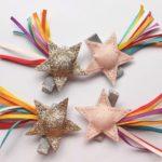 Estrela com Glitter e Fitas